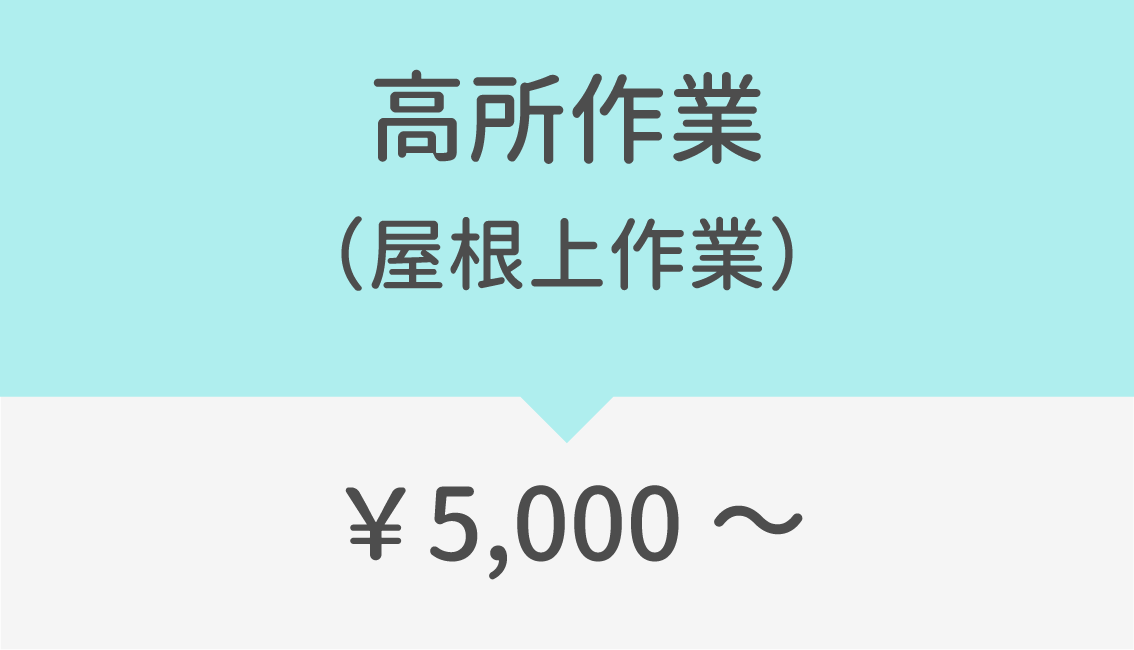 高所作業(屋根上作業)5000円~